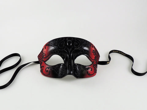 Venetian Male Masquerade Mask –Vampire Diaries Black and Red