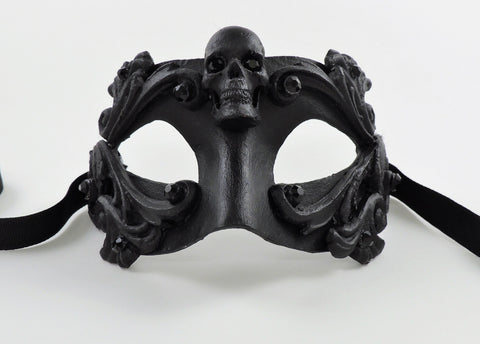 Colombina Skull Mask Black Image