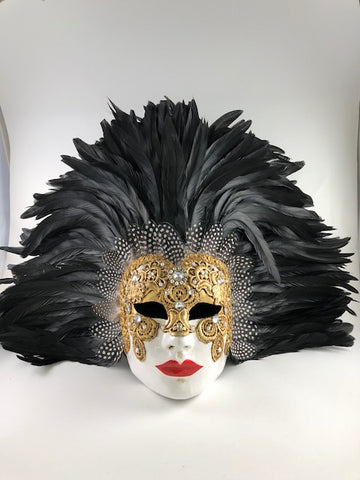 Feathered Volto Carnevale Macrame Eyes Wide Shut Masquerade Image