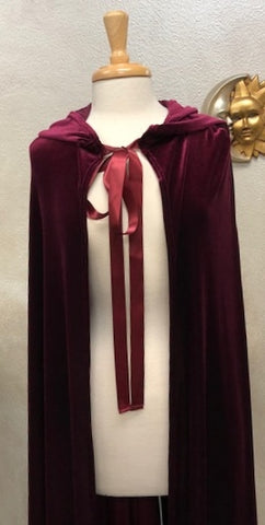 Bordeaux Hooded Cloak