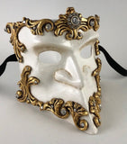 Bauta Baroque Gold and White Image
