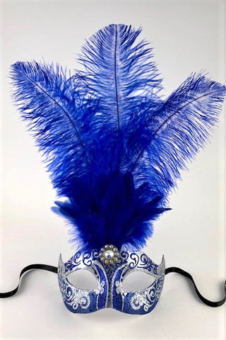 Feathered Colombine Stella Blue and Silver Image