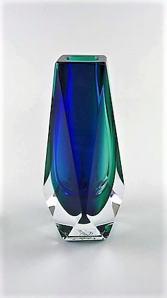 Murano Glass Vase Vasetto Sommerso Blue and Green XS Image