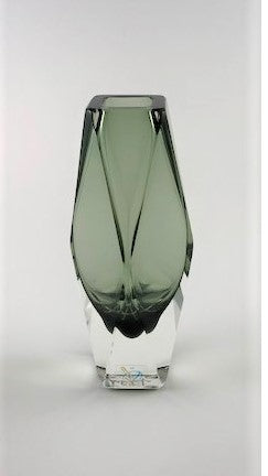 Murano Glass Vase Vasetto Sommerso Smoke Gray Image