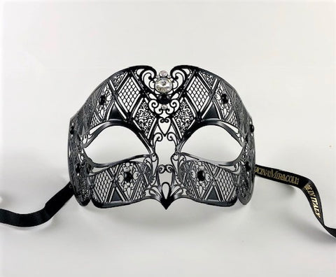 Venetian Mask Laser Cut Metal Smoking Image