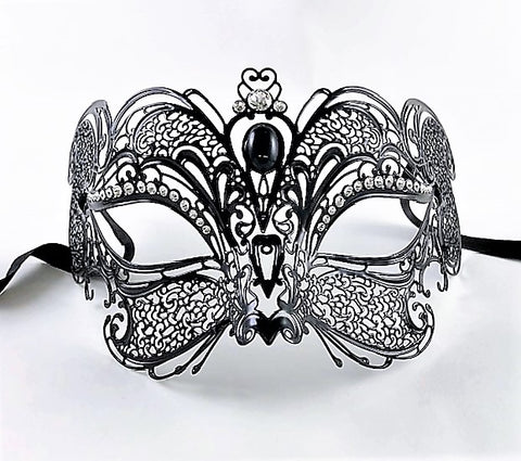 Venetian Mask Laser Cut Metal Gatto Cat Lux Image