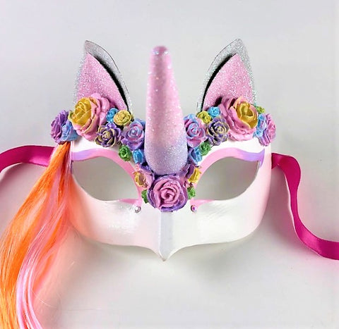 Princess Unicorn Rainbow Fantasy Pink and Orange Image