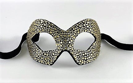 Colombine Hero Strass Crystals Black and Gold Image