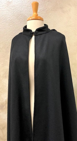 Venetian Wool Cloak Black Image