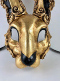 Venetian Baroque Rabbit Mask Gold Image