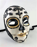 Volto Dia de los Muertos Day of the Dead Black and Gold Image