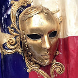 Texas Venetian Mask Flag Wall Ornament