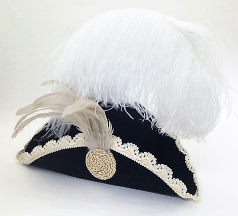 Venetian Tricorno Hat with Plume