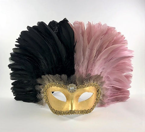 Feathered Colombine Reale Two-Tone Black/Pink Image