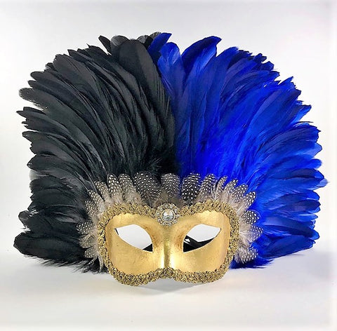 Feathered Colombine Reale Two Tone - Black/Blue Image