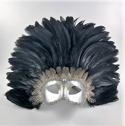 Feathered Colombine Reale Black Silver Image