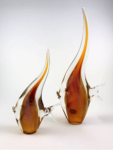 Murano Glass Angel Fish Set Gold Image