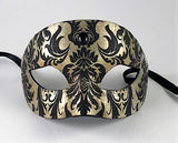 Colombine Demask Tuxedo Black and Antique Silver Image
