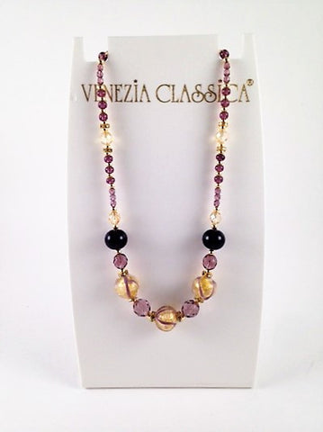 Murano Glass Necklace – Aida Amethyst