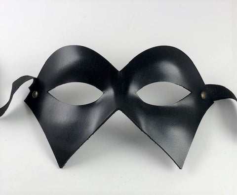 Colombine Leather Punti Eye Mask Image