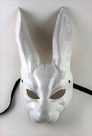 Leather Rabbit Mask White Image