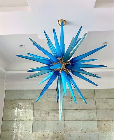 "Murano Glass 'Icicles"" Chandelier"