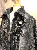 Cloak of Darkness Silver on Black Damask Tapestry Image