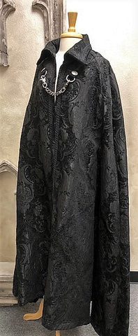 Cloak of Darkness Black Damask Tapestry Image