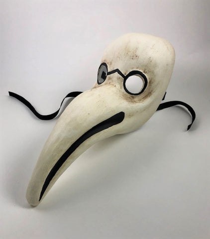 Traditional Venetian Plague Doctor Mask Image