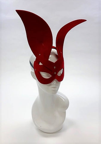 Erotic Mistress Boudoir Bunny Mask Red Velvet Image
