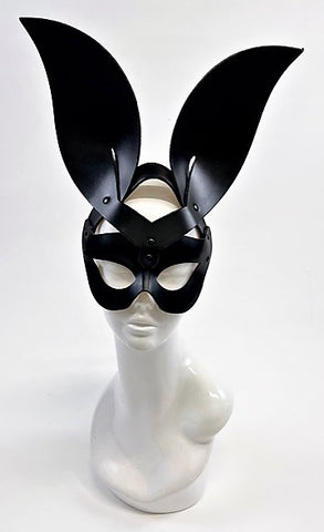 Erotic Mistress Boudoir Bunny Mask Black Leather Image