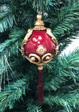 Venetian Christmas Ornament Baroque Red and Gold Image