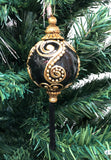 Venetian Christmas Ornament Deluxe Black and Gold Image