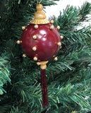 Venetian Christmas Ornament –Perle d'Oro- Gold and Red Image