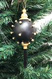 Venetian Christmas Ornament Perle d'Oro- Gold and Black Image