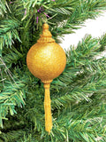 Venetian Christmas Ornament Gold Glitter Image