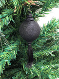 Venetian Christmas Ornament – Black Glitter