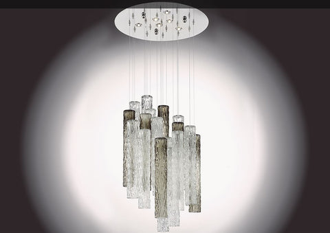 Italian Glass Tubes Ceiling Light Liquidambar Image
