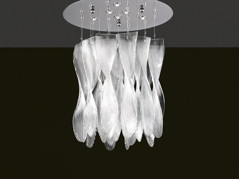 Murano Glass Ceiling Light Spirals Image