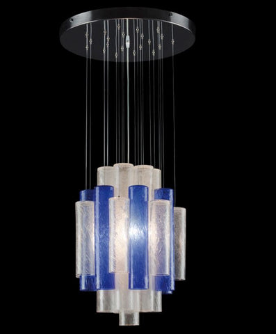 Murano Glass Hanging Tube Ceiling Light Pelegoso Glass Image