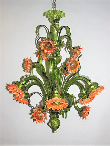 Murano Glass Chandelier – Sunflowers