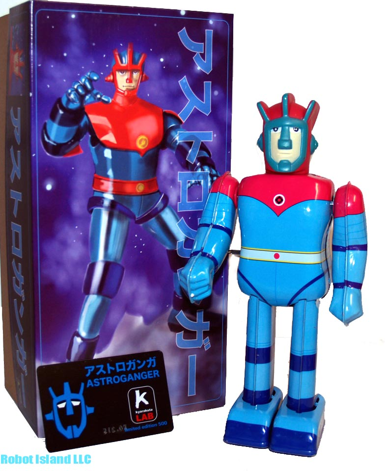 Astroganger Robot Japan Character Tin Toy Windup