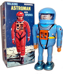 Astroman Robot Osaka Tin Toy Blue Tin Toy Wind up