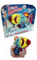 Atomic Ray Gun Tin Toy Friction Powered Blue Version