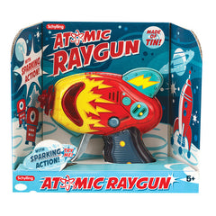 Tin Toy Atomic Ray Gun Friction Powered Red Version