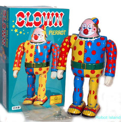 Clown Robot Metal House Tin Toy Windup Japan Osaka Tin Toy