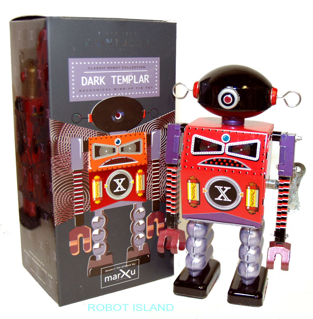 Dark Templar Robot Windup Tin Toy St. John Toys Edition