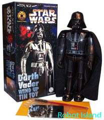 Darth Vader Robot Tin Toy Windup Osaka Tin Toy Japan Star Wars