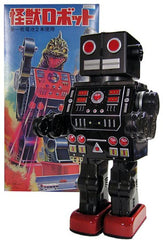 Dino Robot Tin Toy Brown Metal House Japan - SOLD!