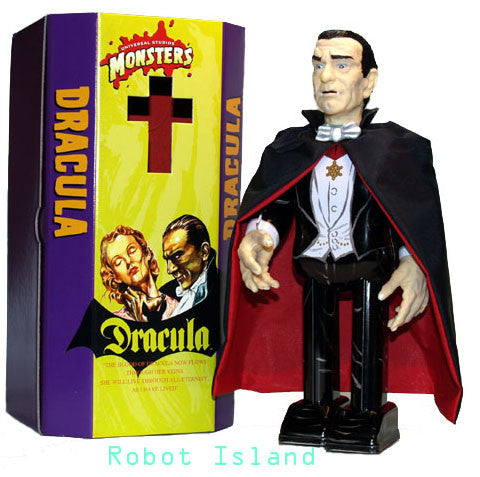 Dracula Robot Tin Toy Windup Metal House Japan Universal Monsters - SALE!